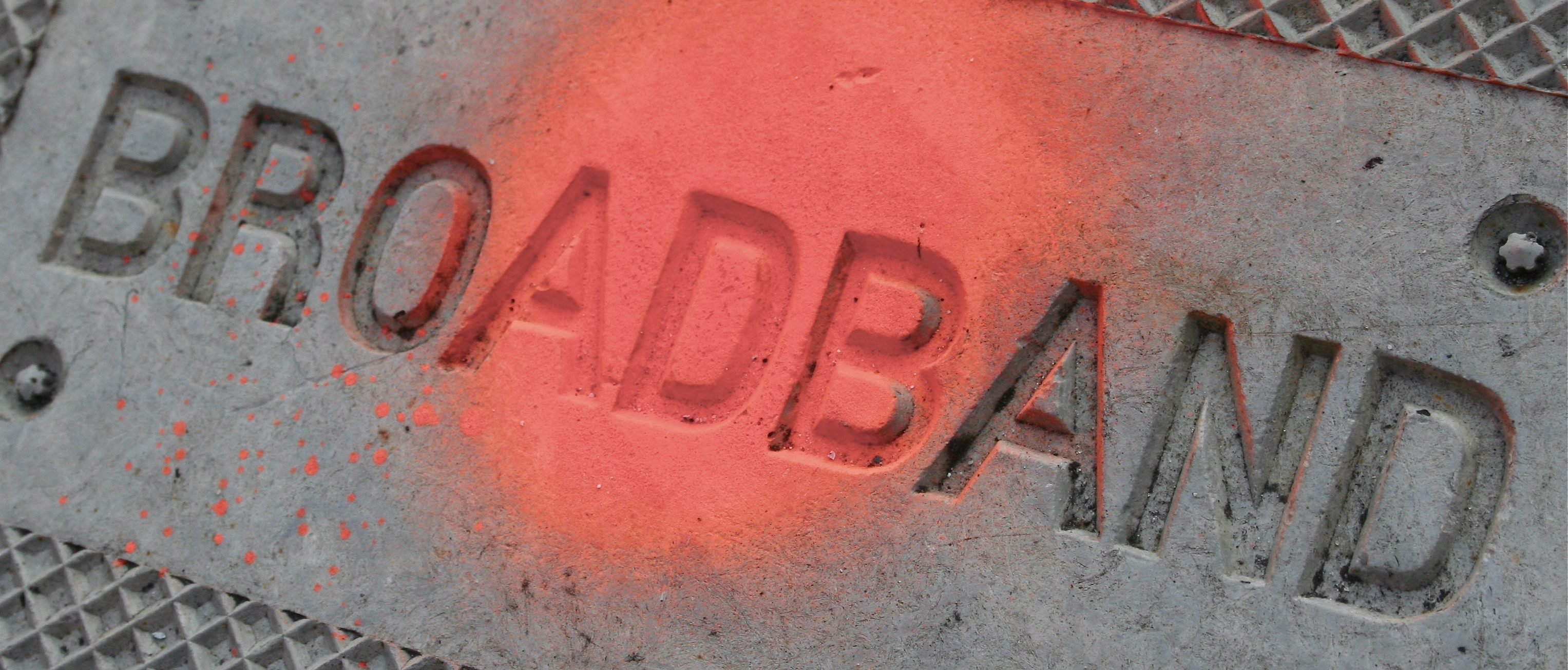 "Image of word ""Broadband"" in concrete"