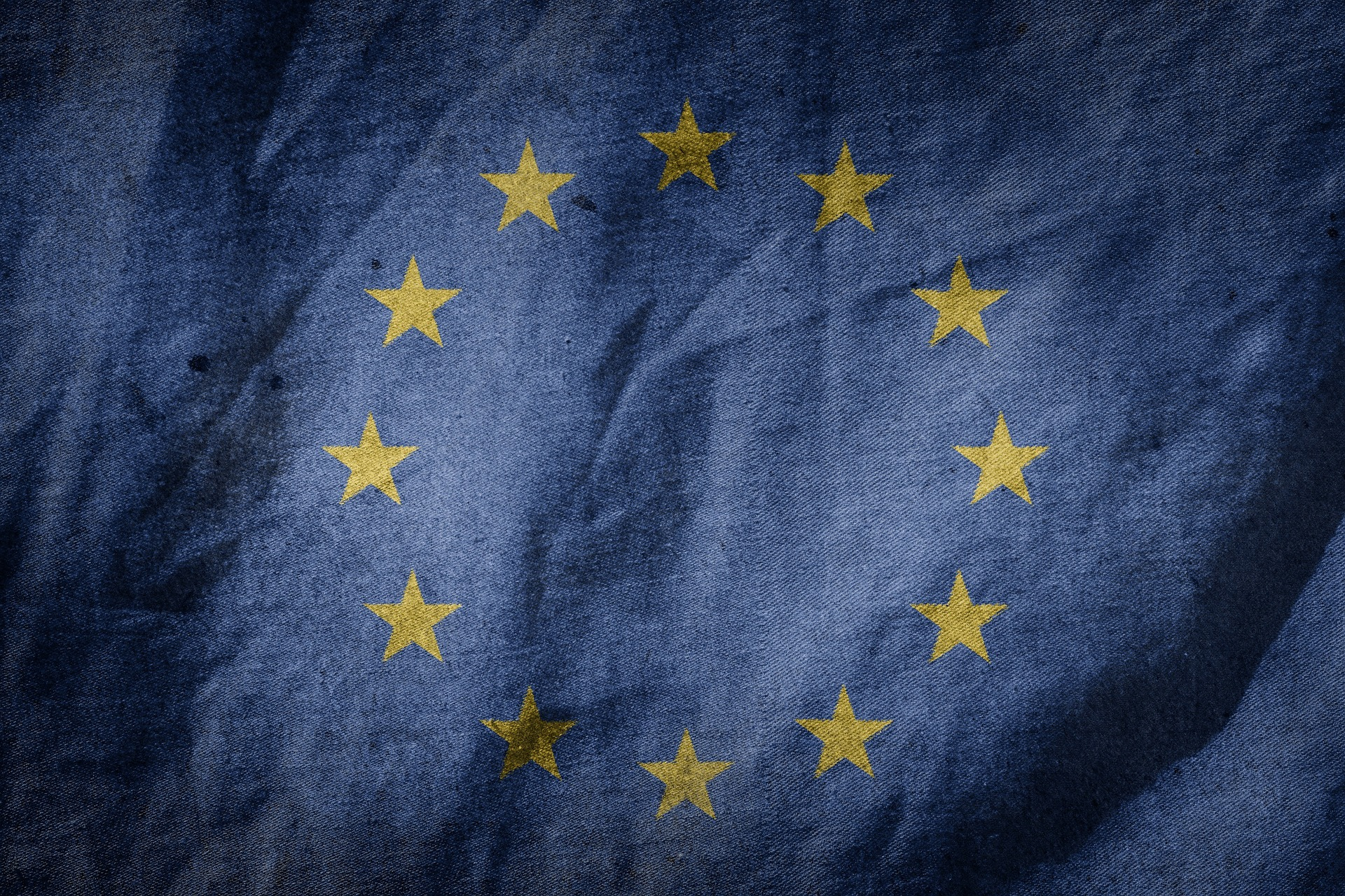 A close up of the European Union Flag