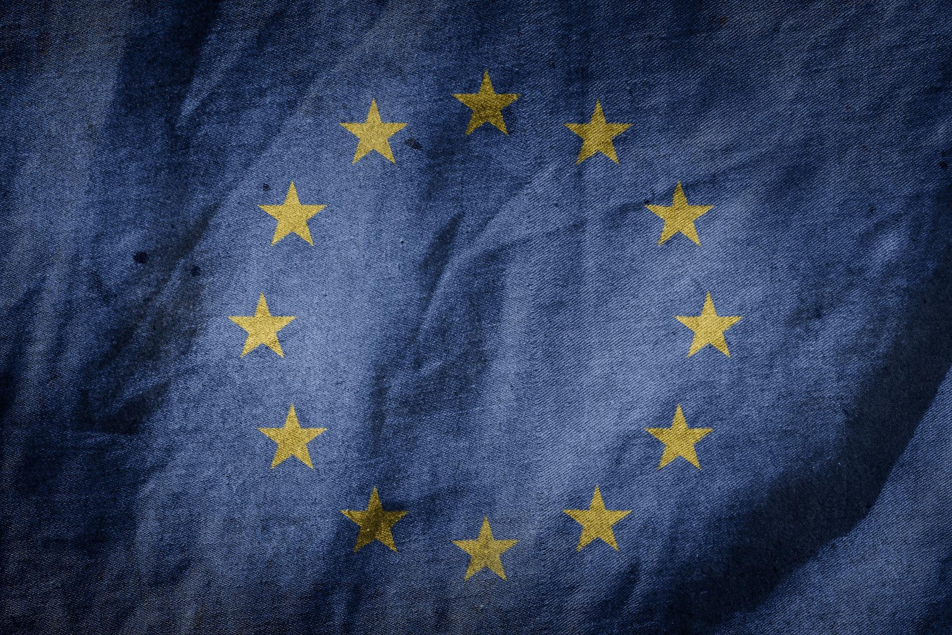 A close up of the European Union Flag